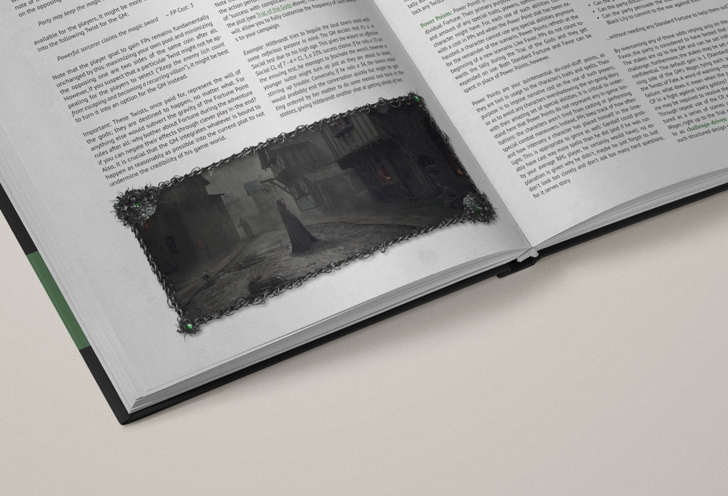 Mockup Fortune Chapter from the Knights of the Black Lily RPG Quickstart